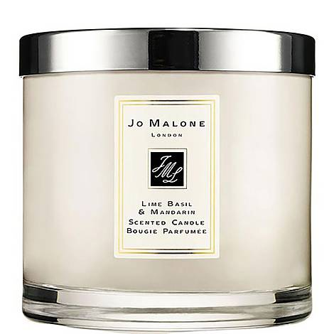 Lime Basil & Mandarin Deluxe Candle 600g, ${color}