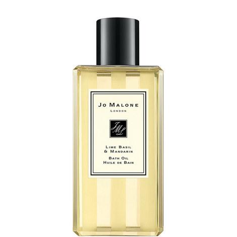 Lime Basil & Mandarin Bath Oil 250ml, ${color}