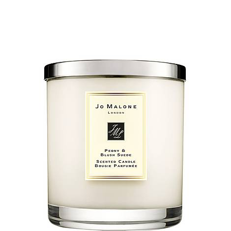 Peony & Blush Suede Luxury Candle, ${color}