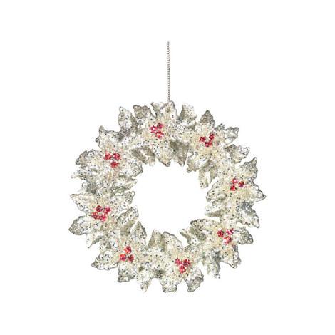 Glitter Wreath Tree Decoration, ${color}