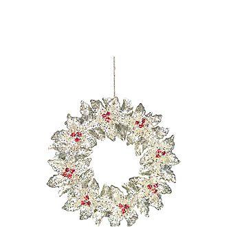 Glitter Wreath Tree Decoration