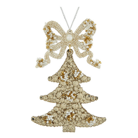 Glitter Tree Hanging Decoration, ${color}
