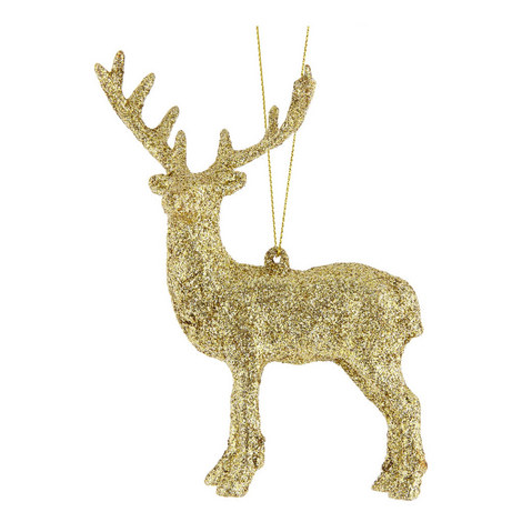 Glitter Stag Hanging Decoration, ${color}