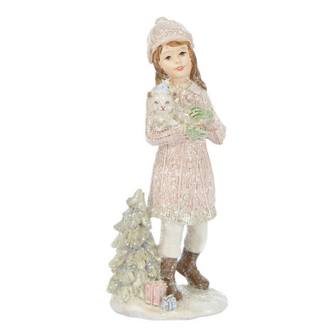 Child And Cat Ornament, ${color}