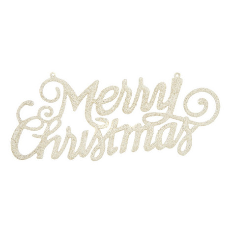 Merry Christmas Glitter Sign, ${color}