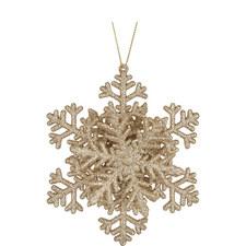 Glitter Snowflake Tree Decoration