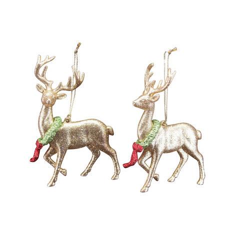 Adorned Deer Tree Decoration, ${color}