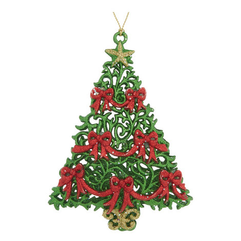 Glitter Christmas Tree Hanging Decoration, ${color}