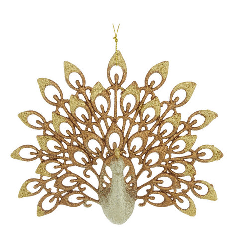 Glitter Peacock Hanging Decoration, ${color}