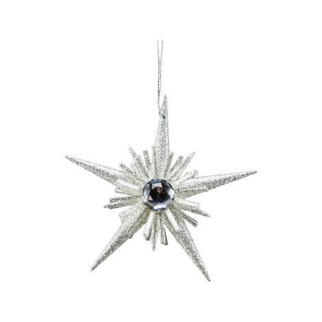 Glitter Detail Star Burst Decoration, ${color}