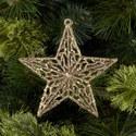 Glitter Filigree Star Ornament, ${color}