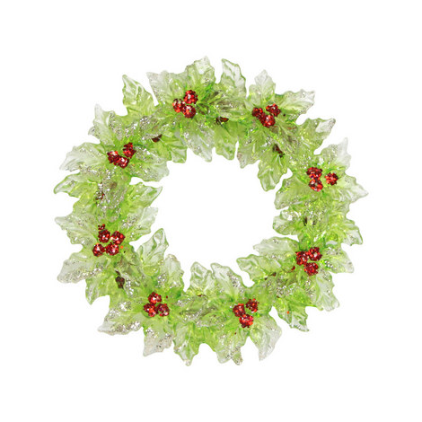 Holly Wreath Tree Decoration, ${color}