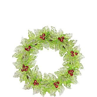 Holly Wreath Tree Decoration