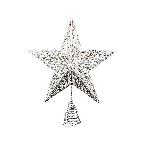 Glitter Star Treetop Decoration, ${color}
