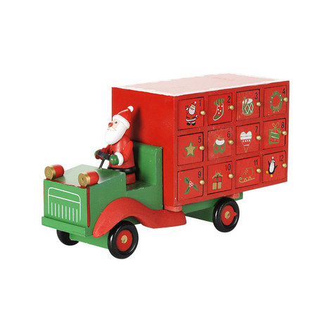 Santa Lorry Advent Calender, ${color}