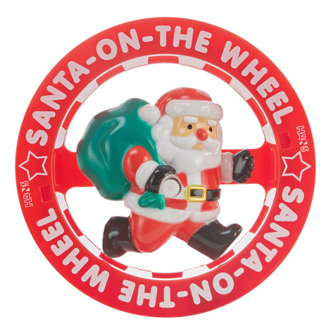 Santa On The Wheel Toy, ${color}