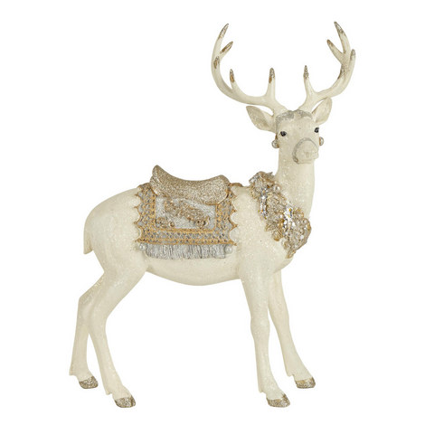 Adorned Standing Stag Ornament, ${color}