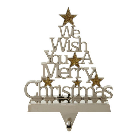 We Wish You A Merry Christmas Stocking Hanger, ${color}