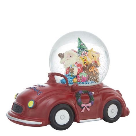 Santa Car Musical Snow Globe, ${color}