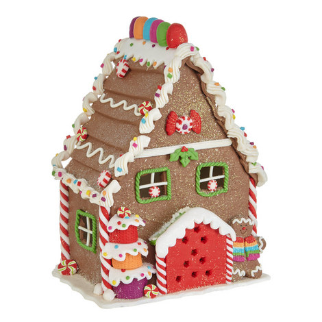 Light-Up Gingerbread House, ${color}