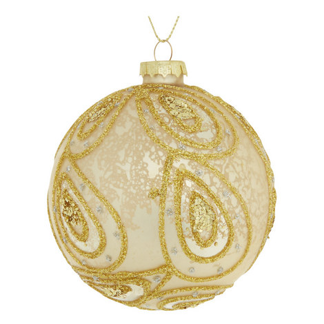 Glitter Paisley Bauble, ${color}