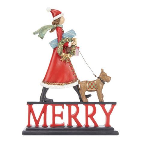 Merry Santa Girl Ornament, ${color}