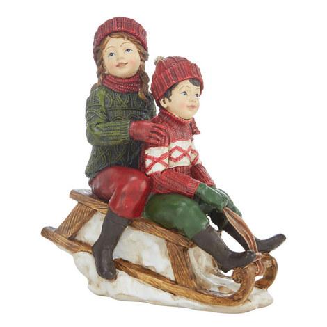 Children On Sledge Ornament, ${color}