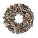Glitter Pine Cone Wreath, ${color}