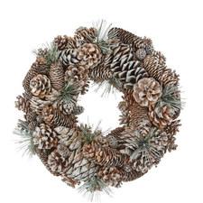 Glitter Pine Cone Wreath