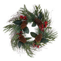 Pine Cone And Berry Wreath, ${color}