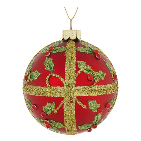 Holly Pattern Bauble, ${color}