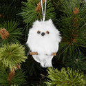 Fluffy Owl Ornament, ${color}