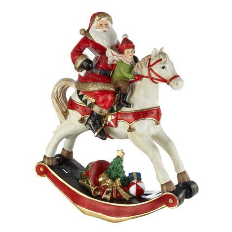 Santa Rocking Horse Ornament, ${color}