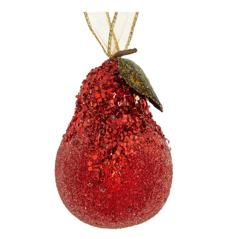 Glitter Pear Hanging Decoration, ${color}
