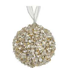 Glitter Ball Hanging Tree Decoration