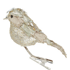Glitter Bird Clip-On Tree Decoration