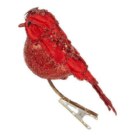 Glitter Bird Clip-On Tree Decoration, ${color}