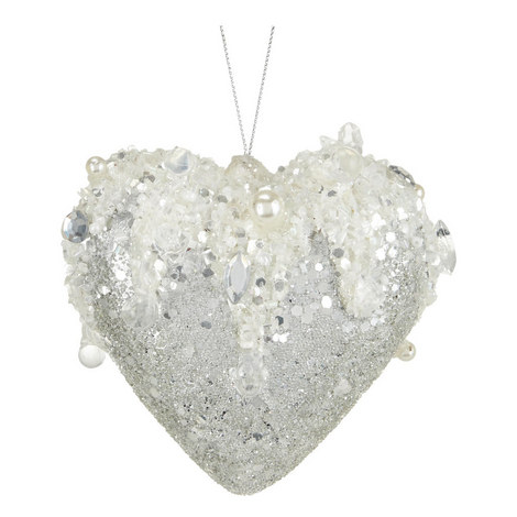 Encrusted Heart Tree Decoration, ${color}