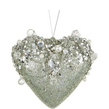 Encrusted Heart Tree Decoration