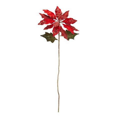 Poinsettia Stem Christmas Decoration, ${color}