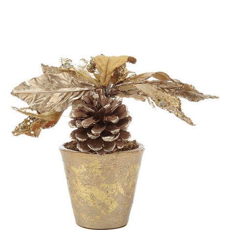 Sparkly Poinsettia Pot, ${color}