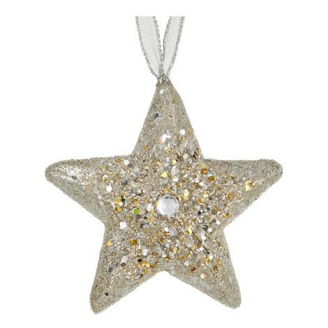 Glitter Star Hanging Tree Decoration, ${color}