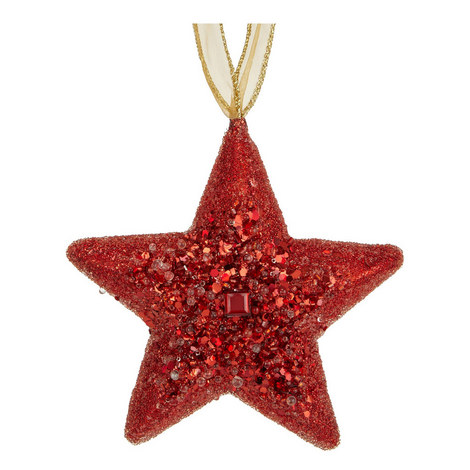 Glitter Star Hanging Tree Decoration, ${color}