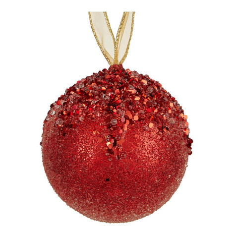 Glitter Top Ball Tree Decoration, ${color}