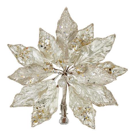 Poinsettia Clip-On Christmas Decoration, ${color}