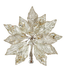 Poinsettia Clip-On Christmas Decoration