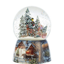 Horse and Carriage Snow Globe