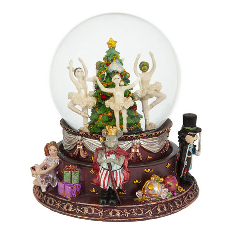 Nutcracker Musical Snow Globe, ${color}