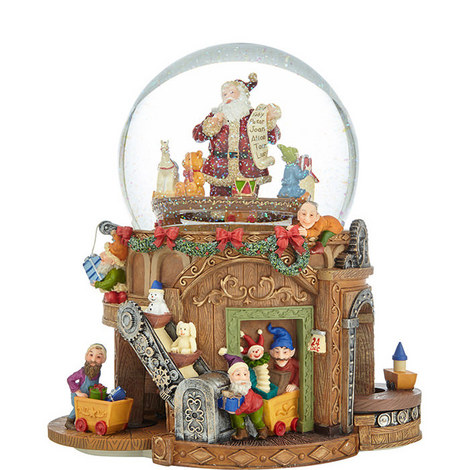 Santa's Workshop Snow Globe, ${color}