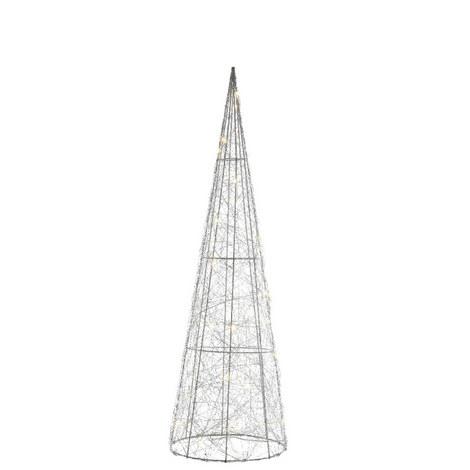 Silver Wire Cone Christmas Tree, ${color}